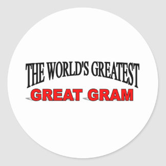 The World s Greatest Great Gram Round Stickers