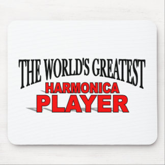 The World s Greatest Harmonica Player Mouse Pad
