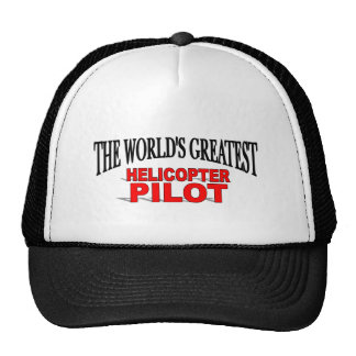 The World s Greatest Helicopter Pilot Mesh Hat