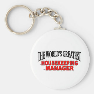 The World s Greatest Housekeeping Manager Key Chain