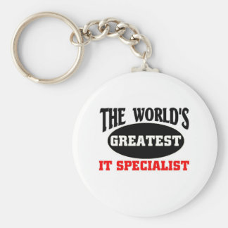 tHE WORLD S GREATEST IT SPECIALIST Keychains
