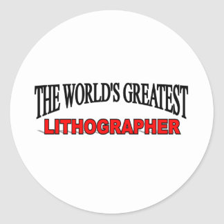 The World s Greatest Lithographer Sticker