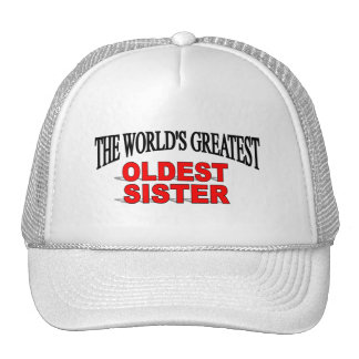 The World s Greatest Oldest Sister Mesh Hat