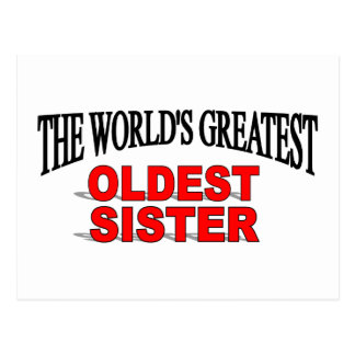 The World s Greatest Oldest Sister Post Cards