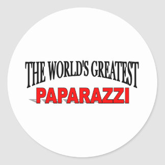 The World s Greatest Paparazzi Round Sticker