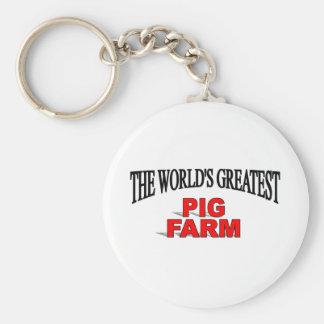 The World s Greatest Pig Farm Key Chain