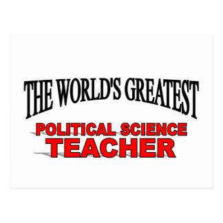 The World s Greatest Political Science Teacher Postcard