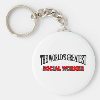 The World s Greatest Social Worker Key Chain