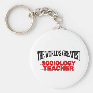 The World s Greatest Sociology Teacher Keychain