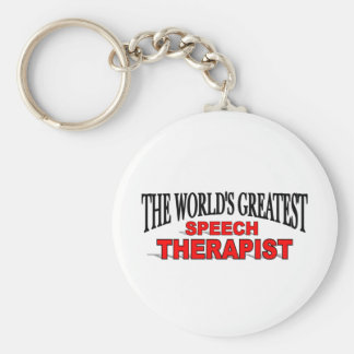 The World s Greatest Speech Therapist Keychains