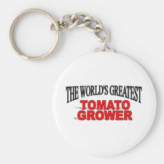 The World s Greatest Tomato Grower Keychain