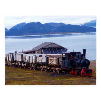 The world s northernmost train Svalbard Post Card