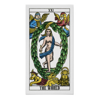 The World Tarot Card Poster