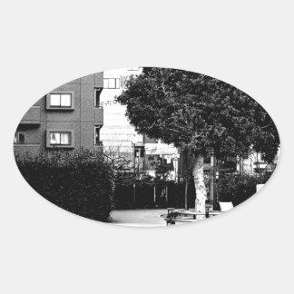 """The world top modern art akagi Japanese today art Oval Sticker"