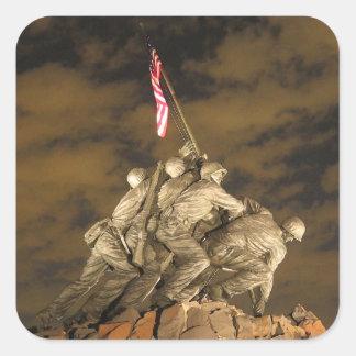 The World War II Iwo Jima Memorial Arlington VA Sticker