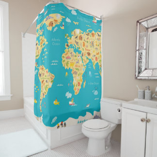 The World's Animals Shower Curtain