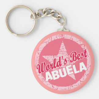 The Worlds Best Abuela Basic Round Button Key Ring