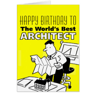 The World's Best Architect Card
