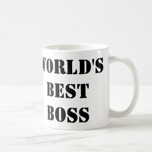 The World's Best Boss Mugs
