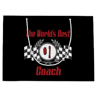 The World's Best Coach - Number One Large Gift Bag