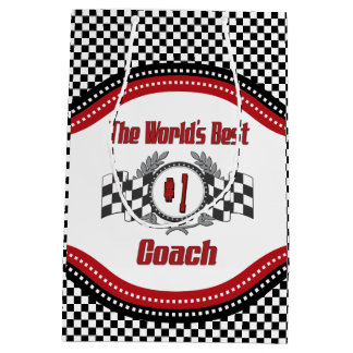 The World's Best Coach - Number One Medium Gift Bag