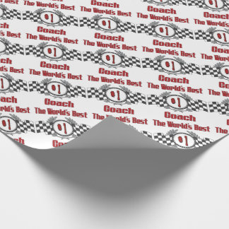 The World's Best Coach - Number One Wrapping Paper