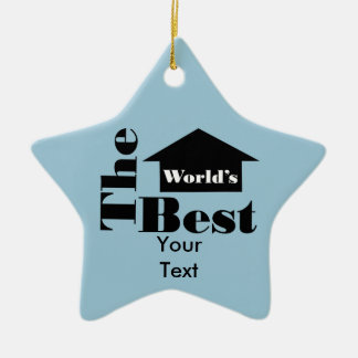 The World's Best Double-Sided Star Ceramic Christmas Ornament