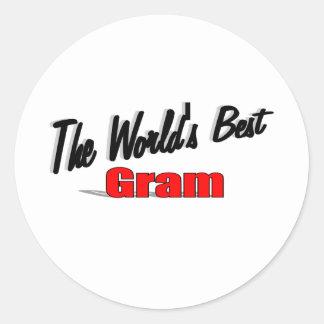 The World's Best Gram Sticker