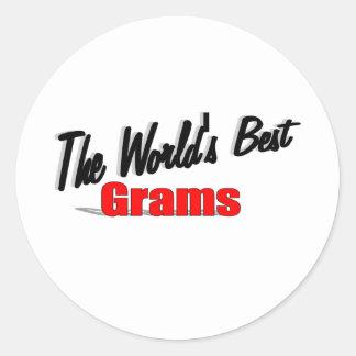The World's Best Grams Round Sticker