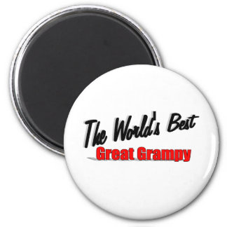 The World's Best Great Grampy 6 Cm Round Magnet