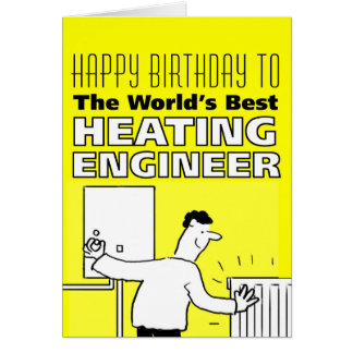 The World's Best Heating Engineer Card