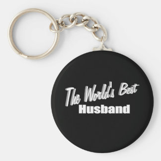 The World's Best Husband Basic Round Button Key Ring