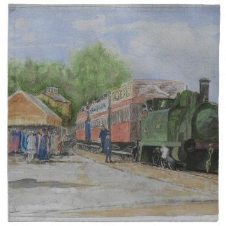 The World's first railway Napkin