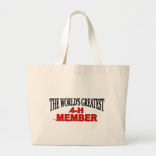The World's Greatest 4-H Member Canvas Bag