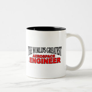 The World's Greatest Aerospace Engineer Two-Tone Coffee Mug