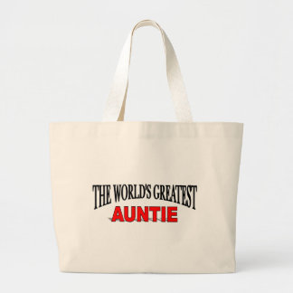 The World's Greatest Auntie Large Tote Bag