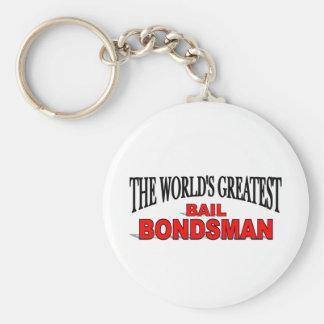 The World's Greatest Bail Bondsman Basic Round Button Key Ring