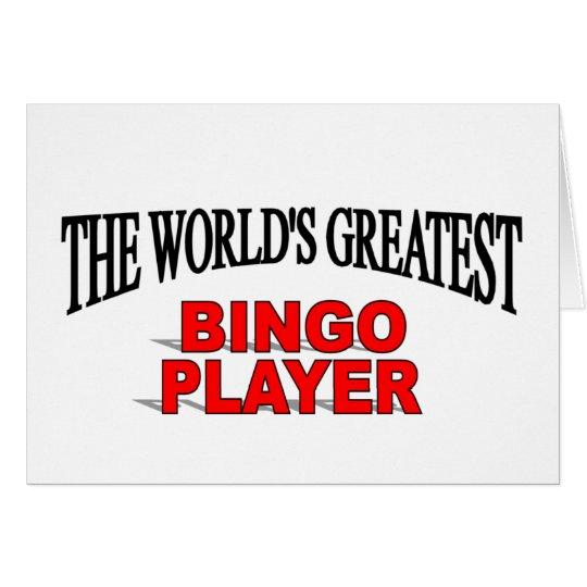 The World's Greatest Bingo Player Card