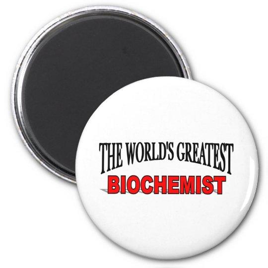 The World's Greatest Biochemist 6 Cm Round Magnet