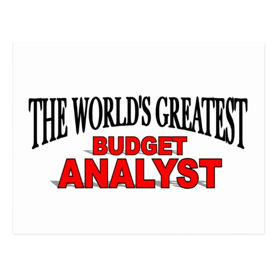 The World's Greatest Budget Analyst Postcard
