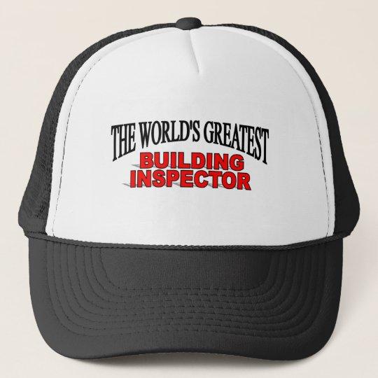 The World's Greatest Building Inspector Trucker Hat