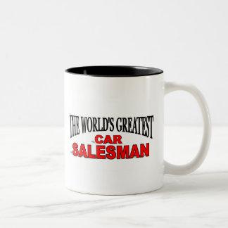 The World's Greatest Car Salesman Two-Tone Mug