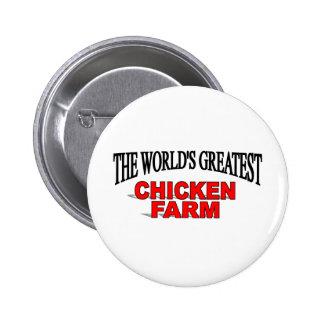 The World's Greatest Chicken Farm 6 Cm Round Badge