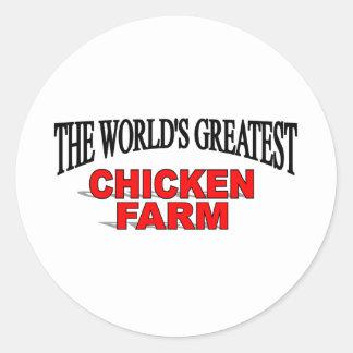 The World's Greatest Chicken Farm Round Sticker