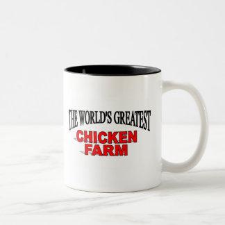 The World's Greatest Chicken Farm Two-Tone Mug