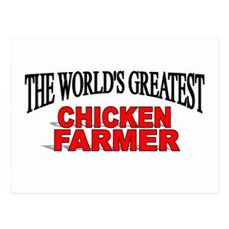 The World's Greatest Chicken Farmer Postcard
