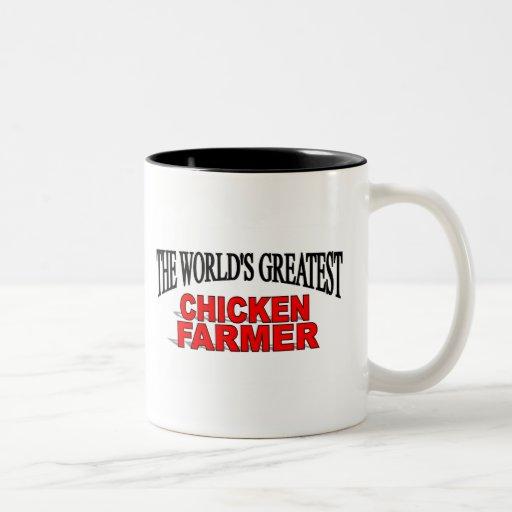 The World's Greatest Chicken Farmer Two-Tone Mug