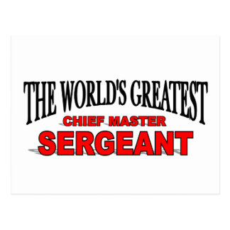 The World's Greatest Chief Master Sergeant Postcard