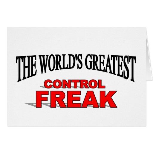 The World's Greatest Control Freak Card