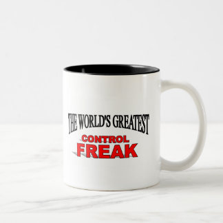The World's Greatest Control Freak Two-Tone Coffee Mug